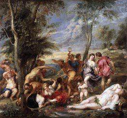 The Andrians, Undated by Rubens | Painting Reproduction