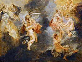 The Triumph of Truth (The Three Parcae Spinning the Fate of Marie de' Medici), c.1622/25 by Rubens | Painting Reproduction