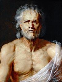 The Dying Seneca, undated by Rubens | Painting Reproduction