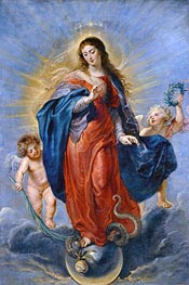 Immaculate Conception, 1627 by Rubens | Painting Reproduction