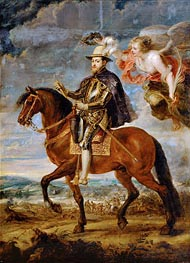 Felipe II on Horseback, 1628 by Rubens | Painting Reproduction