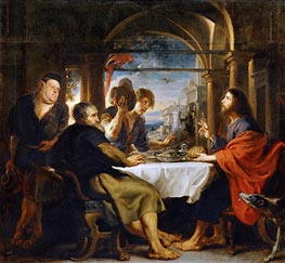 The Dinner at Emmaus, 1638 by Rubens | Painting Reproduction