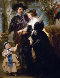 Rubens, His Wife Helena Fourment and One of Their Children, c.1635/40 by Rubens | Painting Reproduction