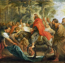 Christ's Entry into Jerusalem, 1632 by Rubens | Painting Reproduction