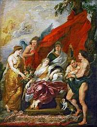 The Birth of Louis XIII at Fontainebleau, 27th September 1601 (The Medici Cycle), c.1621/25 by Rubens | Painting Reproduction
