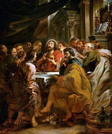 Last Supper, c.1630/32 by Rubens | Painting Reproduction