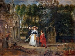 Rubens and His Wife Helene Fourment in the Garden, undated by Rubens | Painting Reproduction