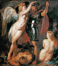 The Coronation of the Hero of Virtue, 1612 by Rubens | Painting Reproduction