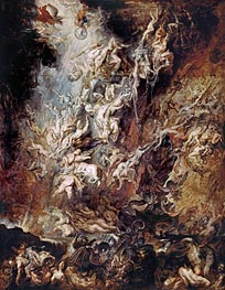 The Fall of the Damned, c.1620/21 by Rubens | Painting Reproduction