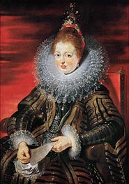 Infanta Isabella Clara Eugenia, Wife of Archduke Albrecht VII, c.1613/15 by Rubens | Painting Reproduction