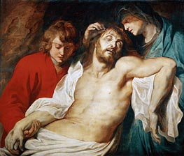 Lamentation with Saint Mary and Saint John, c.1614/15 by Rubens | Painting Reproduction