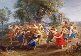 Peasant Dance, c.1636/40 by Rubens | Painting Reproduction