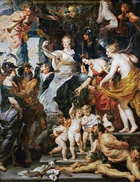The Felicity of the Regency, c.1621/25 by Rubens | Painting Reproduction