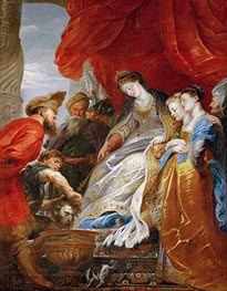 Thomiris, Queen of the Scyths, Orders the Head of Cyrus Lowered into a Vessel of Blood, undated by Rubens | Painting Reproduction