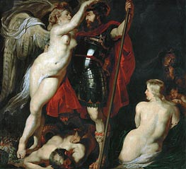Mars Crowned by the Goddess of Victory, undated by Rubens | Painting Reproduction