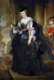 Helene Fourment with Carriage, undated by Rubens | Painting Reproduction