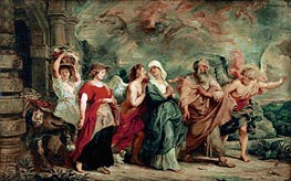 Lot and His Family Leaving Sodom, 1625 by Rubens | Painting Reproduction