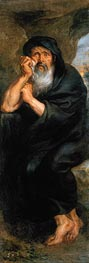 Heraclitus (The Crying Philosopher), c.1636/38 by Rubens | Painting Reproduction