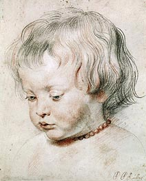 Portrait of Artist Son Nicolas, 1621 by Rubens | Painting Reproduction