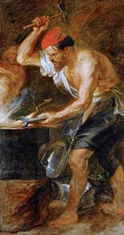 Vulcan Forging the Lightning of Jupiter, c.1636/38 by Rubens | Painting Reproduction