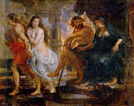 Orpheus and Euridice with Pluto and Proserpina | Rubens | Gemälde Reproduktion