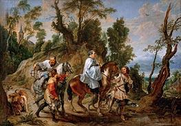 Act of Devotion by Rudolf I of Habsburg, b.1630 von Rubens | Gemälde-Reproduktion