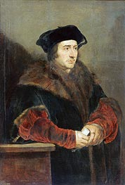 Sir Thomas More, c.1625/30 von Rubens | Gemälde-Reproduktion