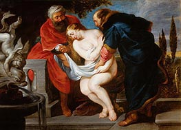 Susanna and the Elders (Susanna Bathing), undated by Rubens | Painting Reproduction