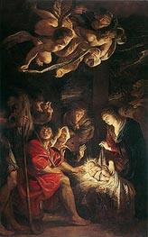 Adoration of the Shepherds, 1608 von Rubens | Gemälde-Reproduktion