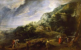 Landscape with Ulysses and Nausicaa, c.1625/27 von Rubens | Gemälde-Reproduktion
