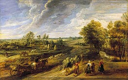 Return from the Harvest, c.1635 von Rubens | Gemälde-Reproduktion