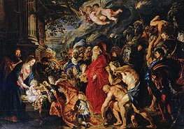 Adoration of the Magi, 1609 von Rubens | Gemälde-Reproduktion