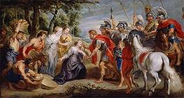 David Meeting Abigail | Rubens | Gemälde Reproduktion