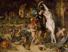 The Return from War (Mars Disarmed by Venus), c.1610/12 by Rubens | Painting Reproduction