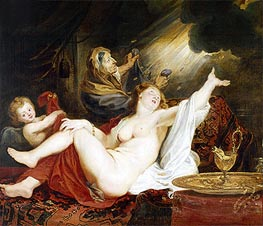 Danae and the Shower of Gold, undated by Rubens | Painting Reproduction