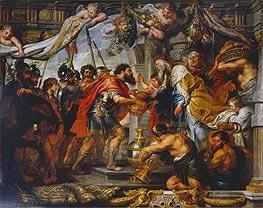 The Meeting of Abraham and Melchizedek, c.1625 von Rubens   Gemälde-Reproduktion