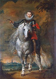 Portrait of Don Rodrigo Calderon on Horseback | Rubens | Gemälde Reproduktion