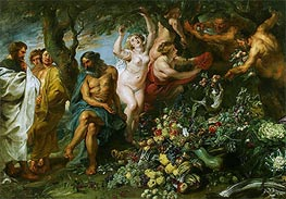 Pythagoras Advocating Vegetarianism, c.1618/30 by Rubens   Painting Reproduction