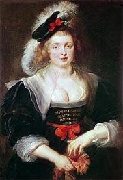 Portrait of Helene Fourment with Gloves | Rubens | Gemälde Reproduktion