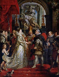 The Proxy Marriage of Marie de Medici and Henri IV 5th October 1600 | Rubens | veraltet