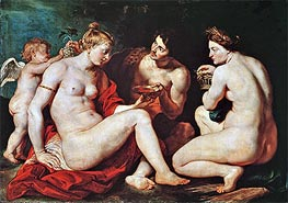 Venus, Cupid, Bacchus and Ceres, c.1613 by Rubens | Painting Reproduction