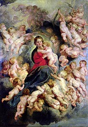 The Virgin and Child Surrounded by the Holy Innocents (The Virgin with Angels) | Rubens | Gemälde Reproduktion