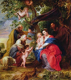 The Holy Family under an Apple Tree, c.1632 by Rubens | Painting Reproduction