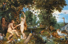 The Garden of Eden with the Fall of Man, c.1615 by Rubens | Painting Reproduction