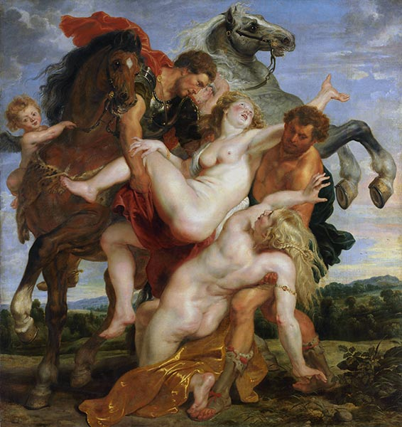 The Rape of the Daughters of Leucippus, c.1617/18 | Rubens| Painting Reproduction
