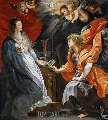 The Annunciation, 1609 | Rubens| Painting Reproduction