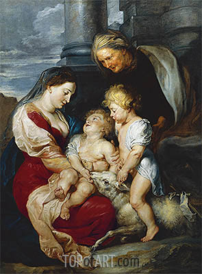 The Holy Family with the Lamb, c.1618 | Rubens| Painting Reproduction