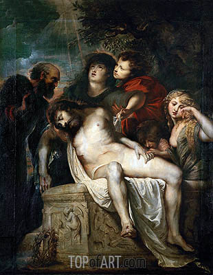 Deposition in the Sepulchre, c.1601/02 | Rubens | Painting Reproduction