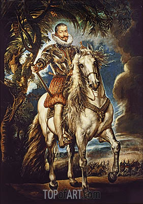 Equestrian Portrait of the Duke of Lerma, 1603 | Rubens | Painting Reproduction