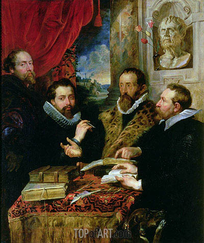 The Four Philosophers (Giusto Lipsius and His Pupils), c.1611/12 | Rubens| Painting Reproduction
